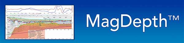 mag depth on blue background