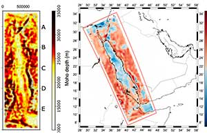 Red Sea poster - depth to moho and crustal thickness